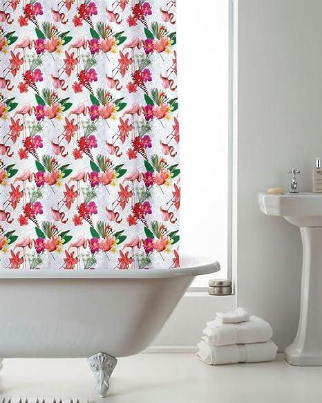 Moderne Luxus Exotische Vögel Flamingos Badezimmer Dusche ...