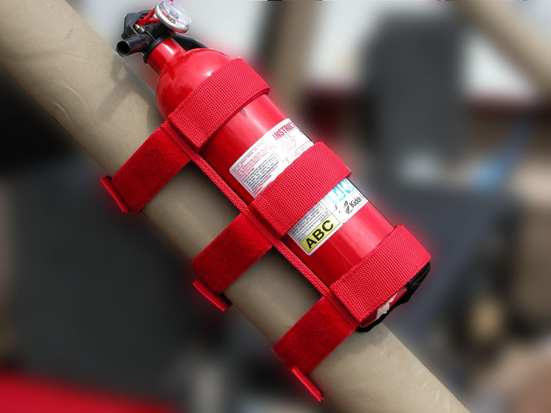 Outland 391330520 Red Sport Bar Fire Extinguisher Holder for CJ/YJ/TJ Wrangler/JK