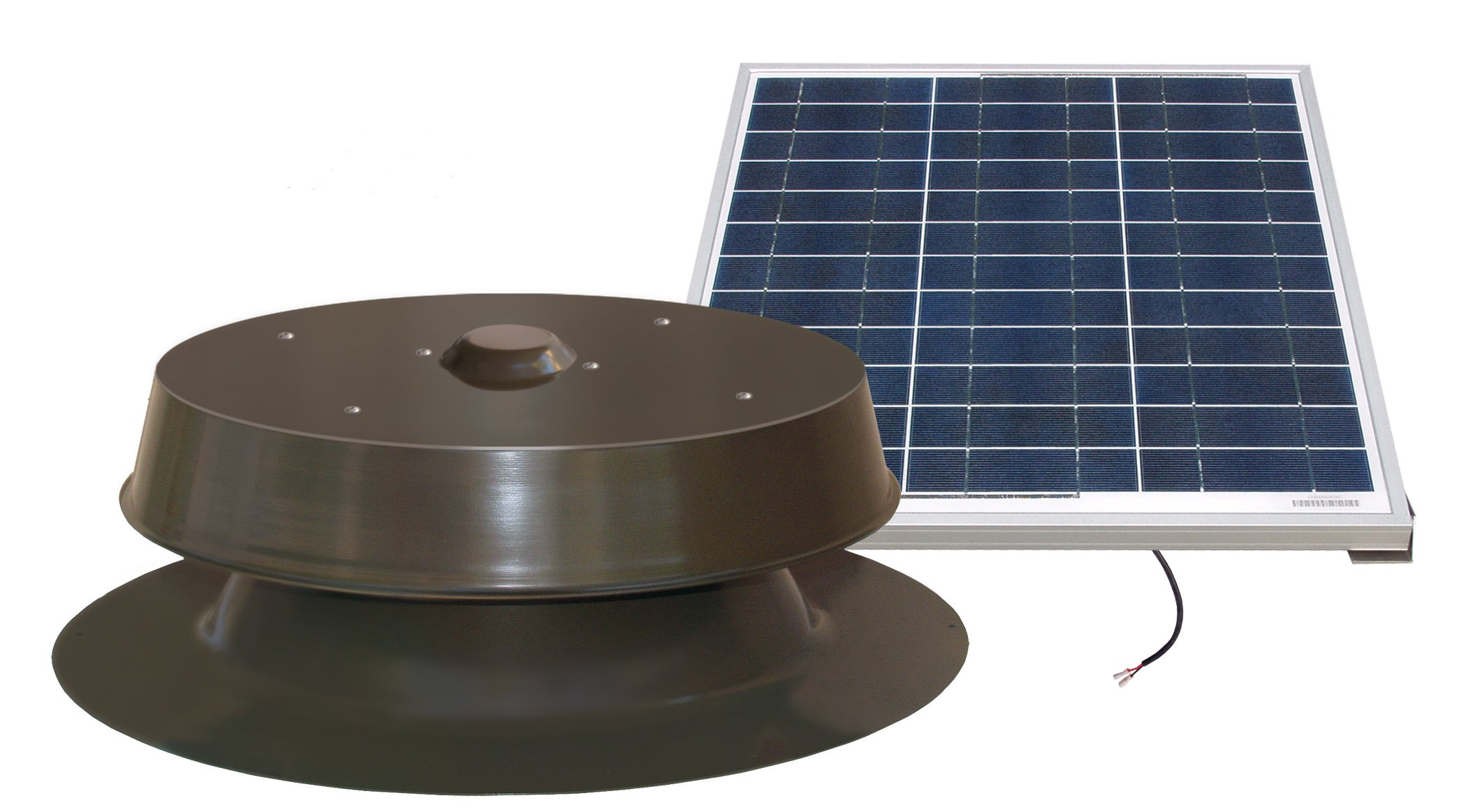 Natural Light Solar Attic Fan 60-Watt Bronze