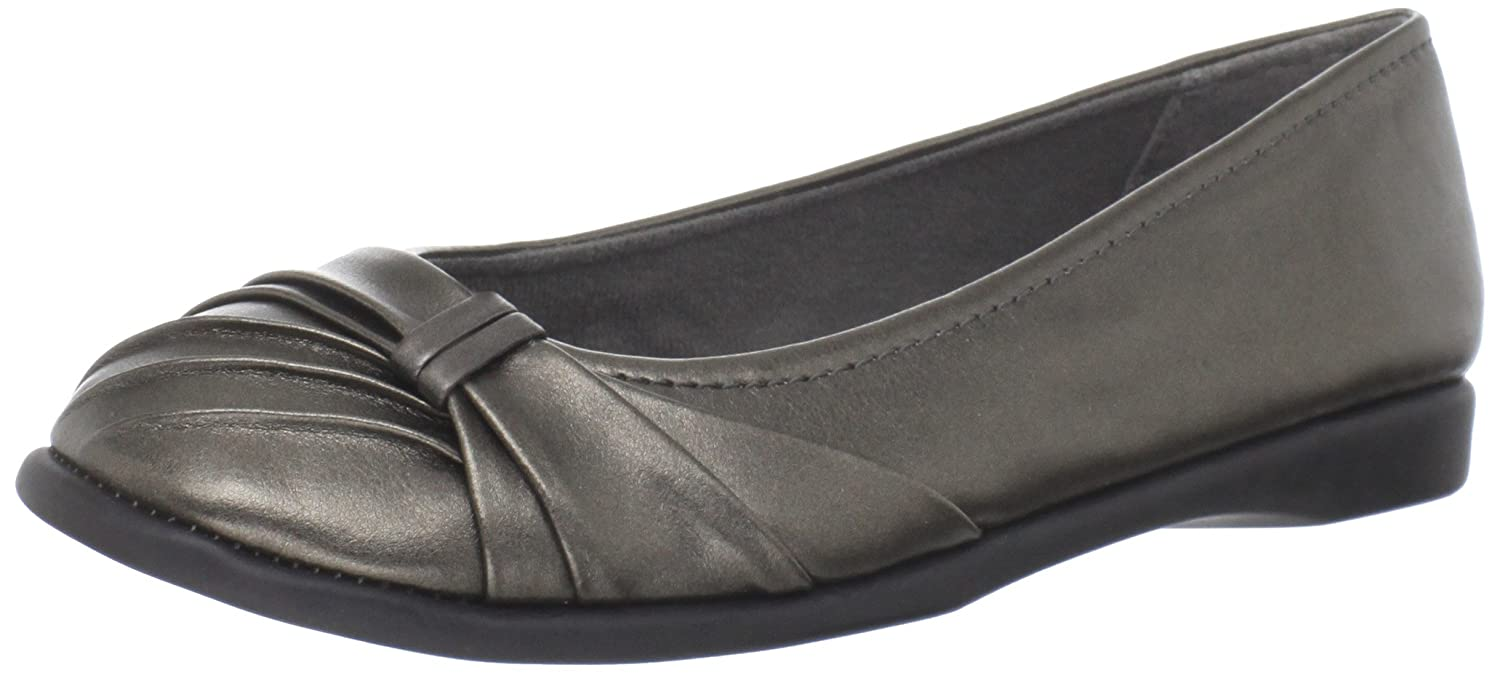 Easy Street Women's Giddy Ballet Flat B007IP1FBI 9 B(M) US|Pewter