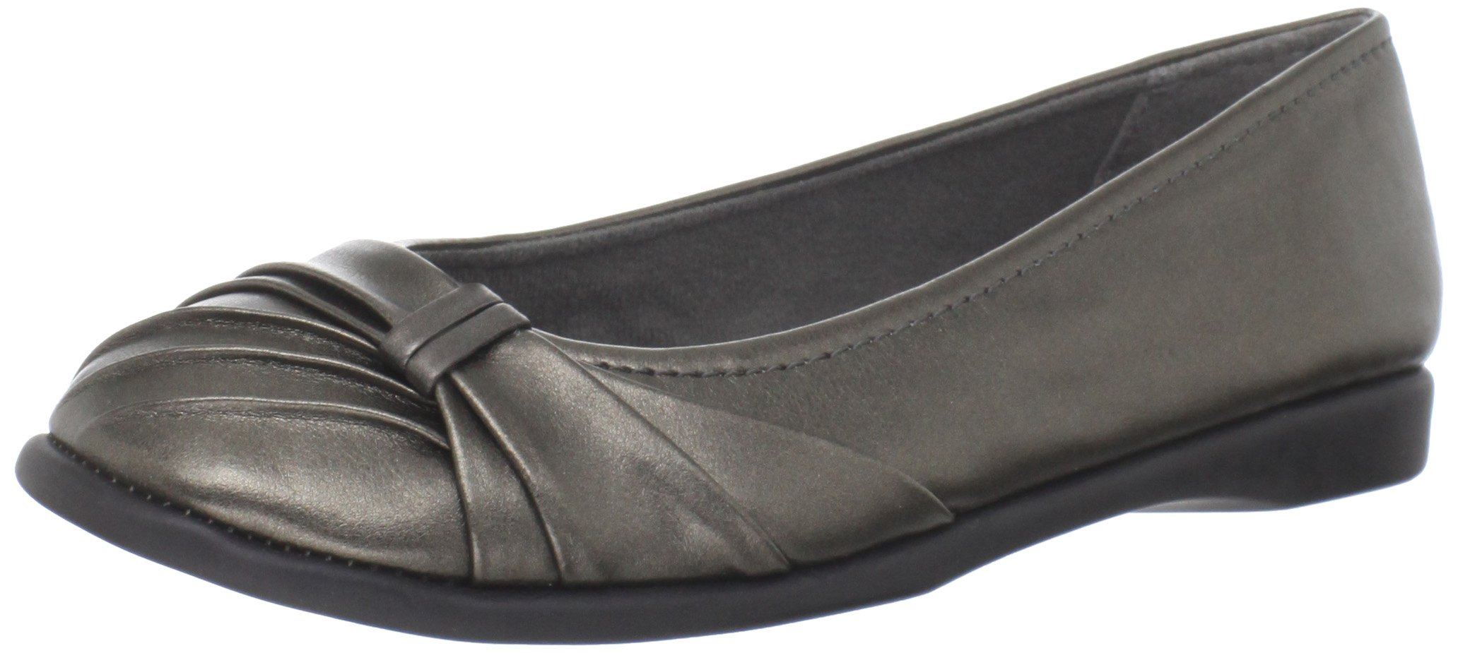 Easy Street Women's Giddy Ballet Flat,Pewter,6 M US