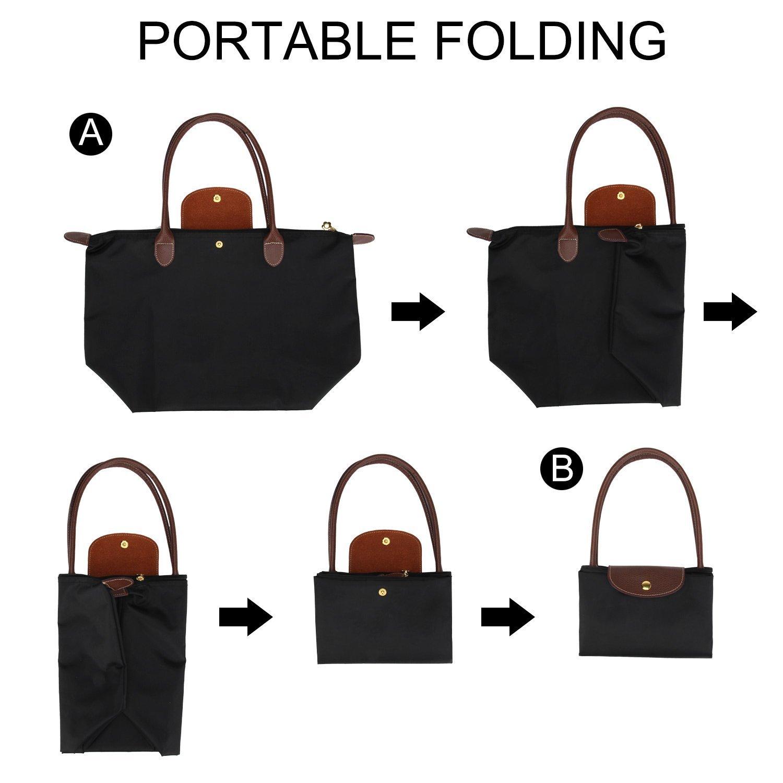 The Valentines Day Womens Folding Dumpling Bag Folding Dumpling Handbag Nylon WaterProof Gripesack School Backpack Dumplings Type Shoulder Tote Bag Shoulder Bag