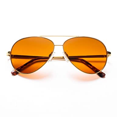 cec688b7265 Image Unavailable. Image not available for. Color  Polarized Gold Wire Aviator  BluBlocker ...