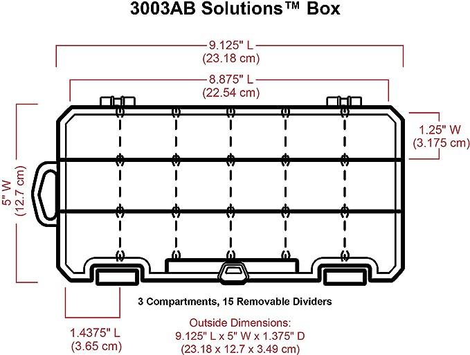 transl/úcido Art Bin 3003AB Caja de tama/ño peque/ño Solutions