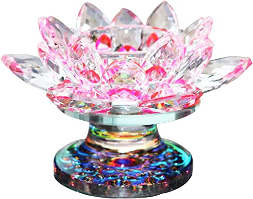 2 Clear Candle Stands w// Crystal Flower Votive Candle Cups Centerpieces