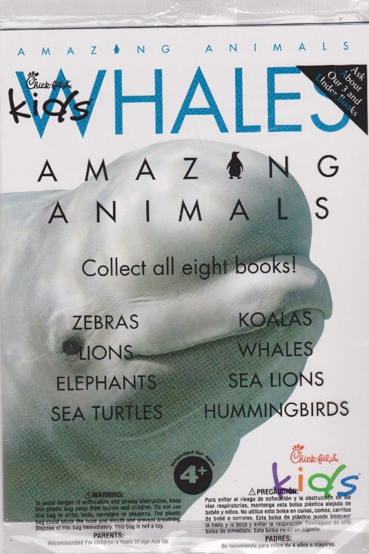 Chick-fil-A Amazing Animals: Whales Paperback – 2016