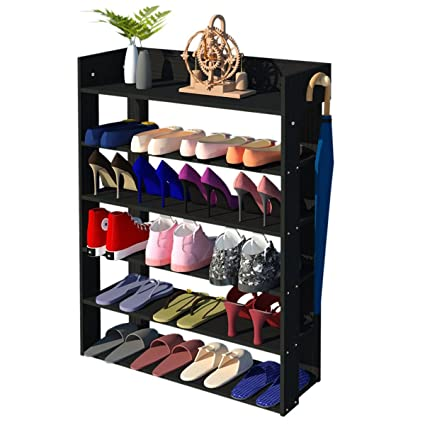 5 Tire Entryway Closet Shoe Rack Shoe Storage Cabinet Shelf (Black)