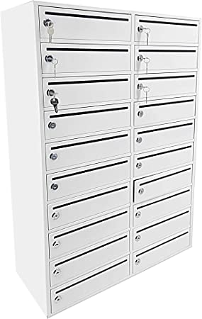 Amazon Com Fixturedisplays 20 Slot 10 8 Wide Door Large 10 Wide Slot Cellphone Locker Station Storage Cabinet 23 3 Wide X 9 1 Deep X 35 Tall Mail Slot Group Box 10078 Npf Office Products