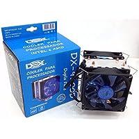 Cooler para processador INTEL/AMD Dupla-Fan DX-9100D DEX LED Azul
