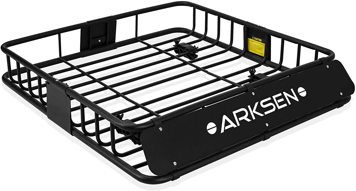 """ARKSEN 150LB Universal 43"""" Roof Rack Cargo Auto Top Luggage Carrier Basket SUV Traveling Holder"""