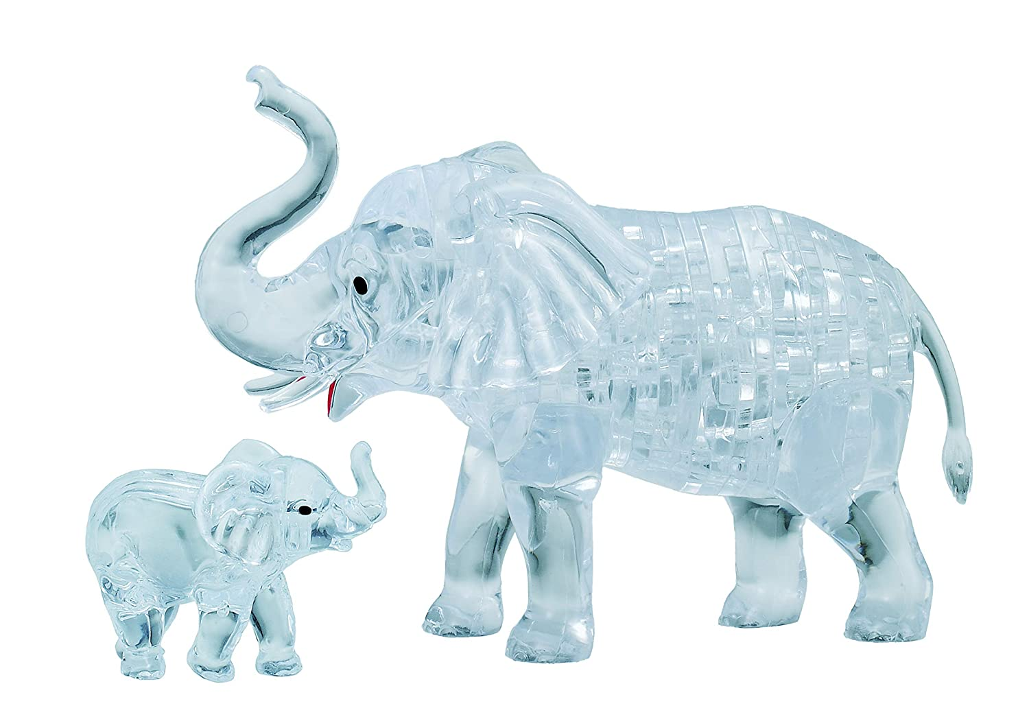 Original 3D Crystal Puzzle - Elephant and Baby: 46 Pieces University Games 31082