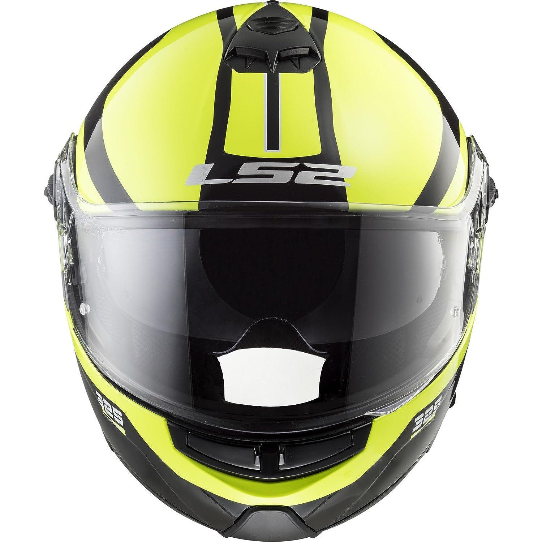 Taille M LS2 Casque moto STROBE ZONE Noir HI VIS Jaune Noir//Jaune M