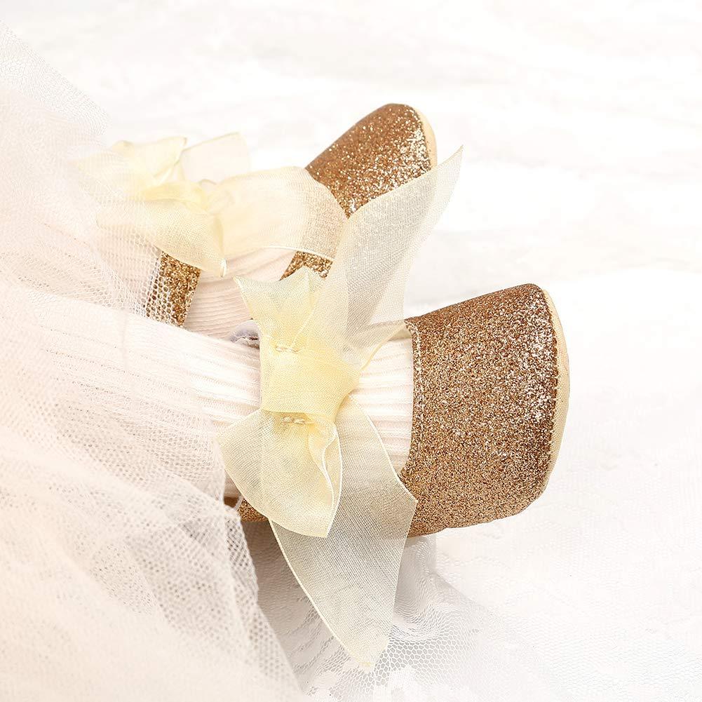 Pink 12cm Alamana Fashion Infant Baby Girl Bowknot Princess Soft Sole Prewalker Toddler Shoes