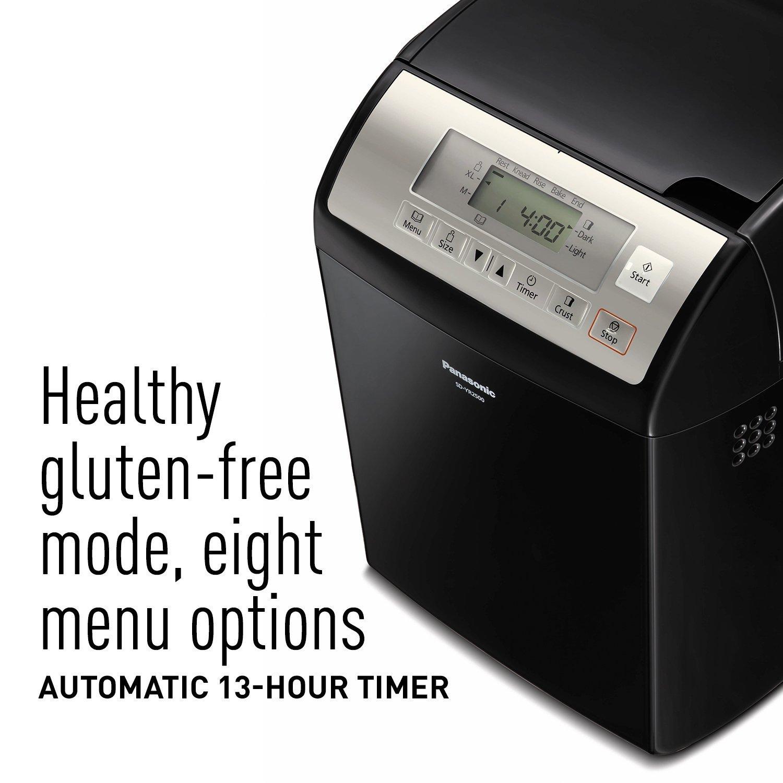 Panasonic SD-YR2500 Bread Maker with Gluten Free Mode and Yeast / Raisin / Nut Dispenser, Black by Panasonic (Image #2)