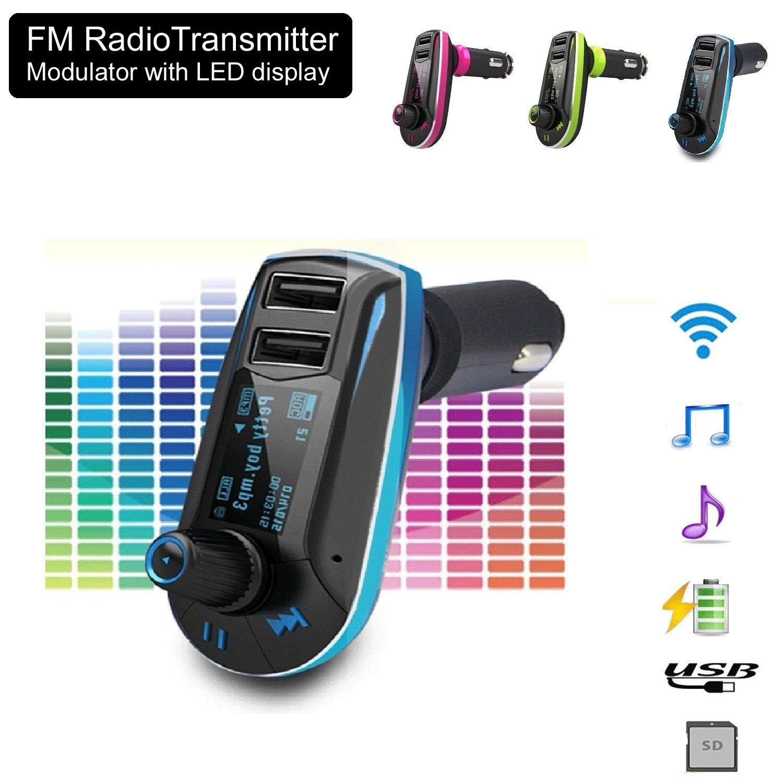 realmax/® Auto Musik FM Transmitter universell kompatibel mit Allen Marke Mobiles MP3-Player Tablets und alle KFZ Modelle