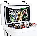 AIEVE Cooler Storage Bag, 2 Pack High Capacity Heavy Duty Adhesive Backed Elastic Nylon Mesh Storage Net Cooler…
