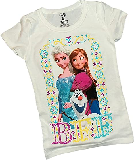 5847aff92 Amazon.com: BFF -- Elsa, Anna & Olaf -- Disney Frozen Crop Sleeve ...