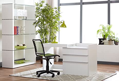 Premium White 28u0026quot;   50u0026quot; Convertible Office Desk / Storage Cabinet