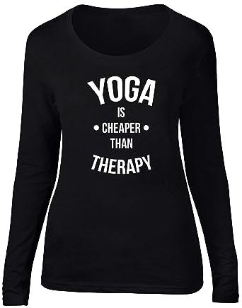 HippoWarehouse Yoga Is Cheaper Than Therapy Camiseta de ...