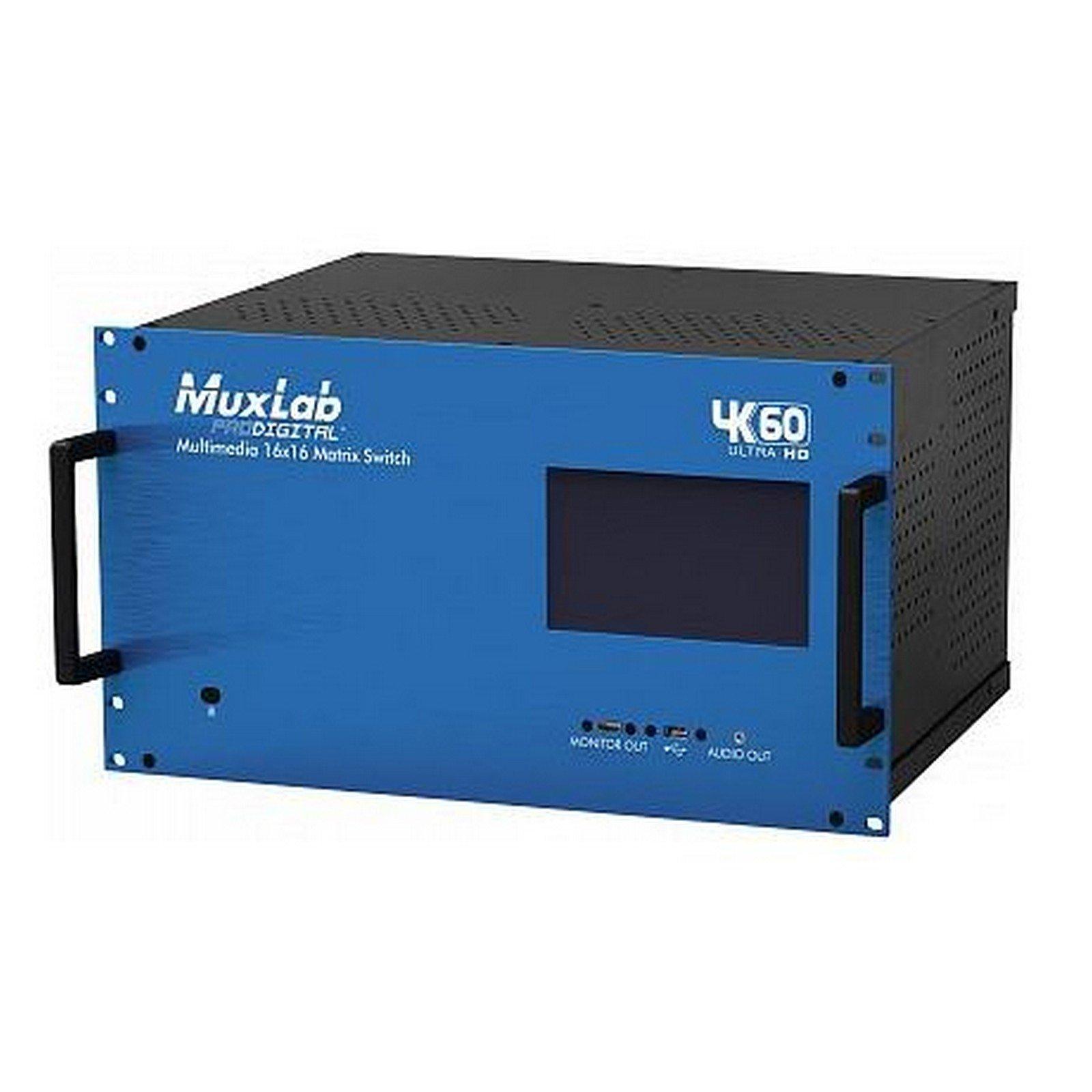 MuxLab 500480-US, 4K60 Multimedia 16X16 Matrix Switch by Muxlab