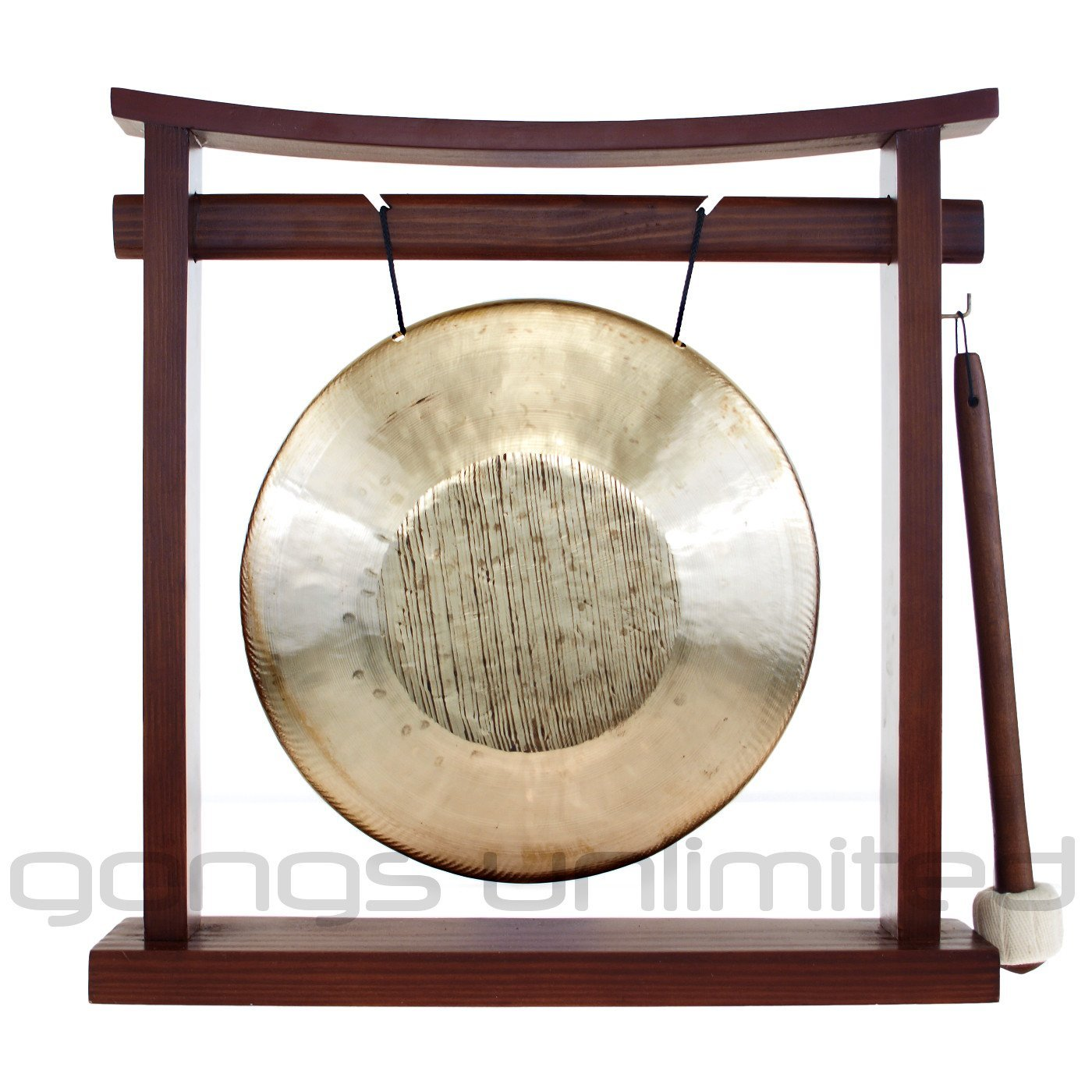 7'' to 8.5'' Gongs on the Pretty Chill Gong Stand by Unlimited