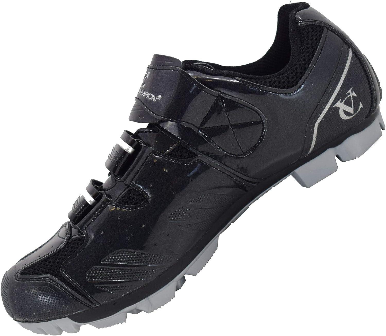 Socken mitinbegriffen VeloChampion Elite SPD MTB Radsportschuhe f/ür M/änner Frauen ideal f/ür Mountain Cyclo Cross Country XC Bikes in schwarz//Silber