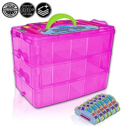 Amazoncom Holds 600 Tiny Toy Box Shopkins Storage Case Organizer