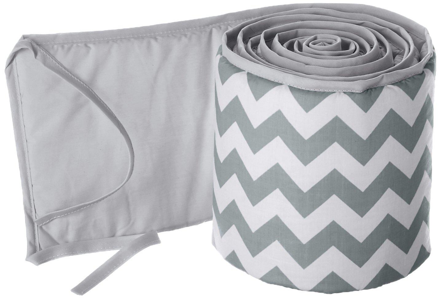 Grey and white chevron cot bar bumper wraps  free p/&p