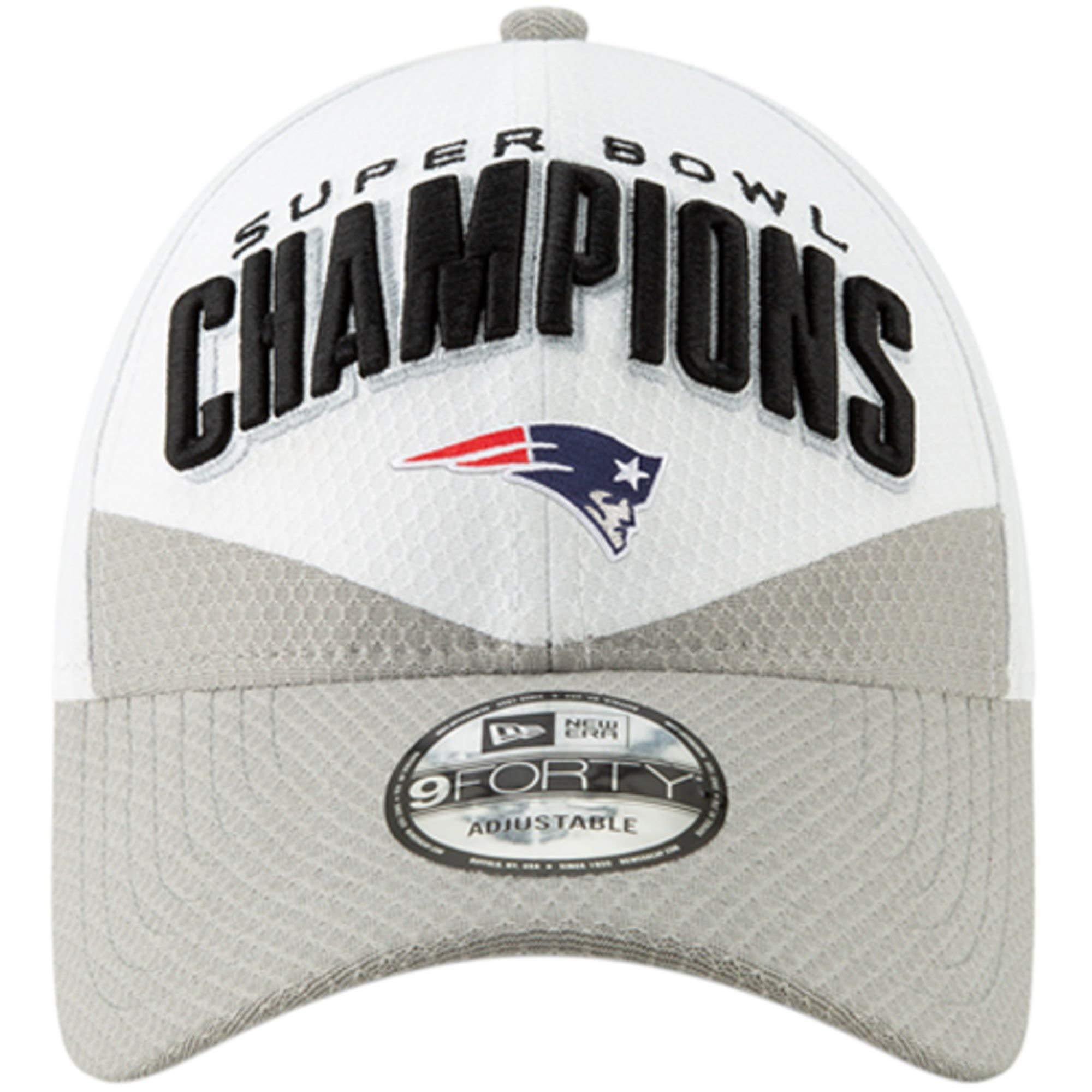 887f62f144589d New Era New England Patriots White/Gray Super Bowl LIII Champions Trophy  Collection Locker Room