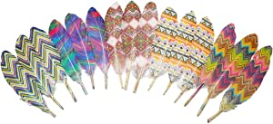 50Pcs 5 Style Natural Goose Feathers Clothing Accessories Pack of Mixed Indian Feathers for Dream Catcher,Easter Decor,Christmas, Clothing,and Baby Shower Decorations (Indians Style)