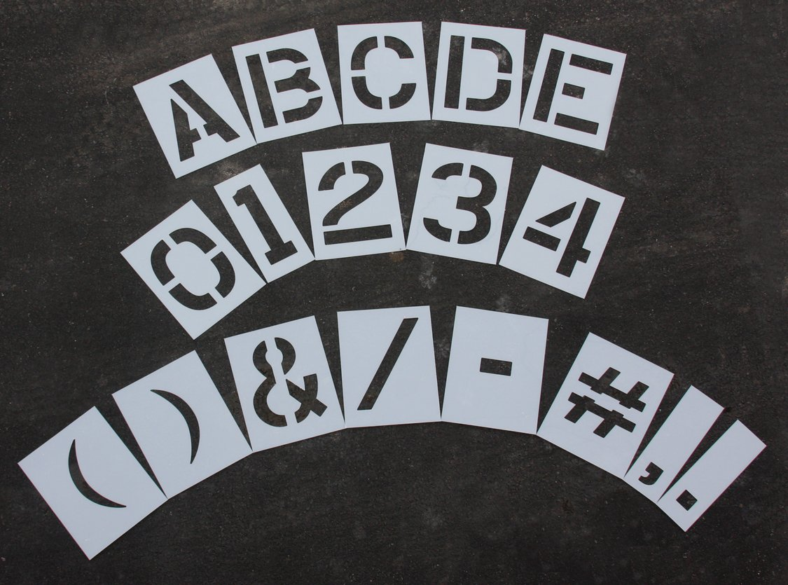 RAE - 12'' MEGA KIT Reusable Plastic Paint Stencils, 1/16'' Thick - LETTERS, NUMBERS, and PUNCTUATION - STL-116-8128 by RAE