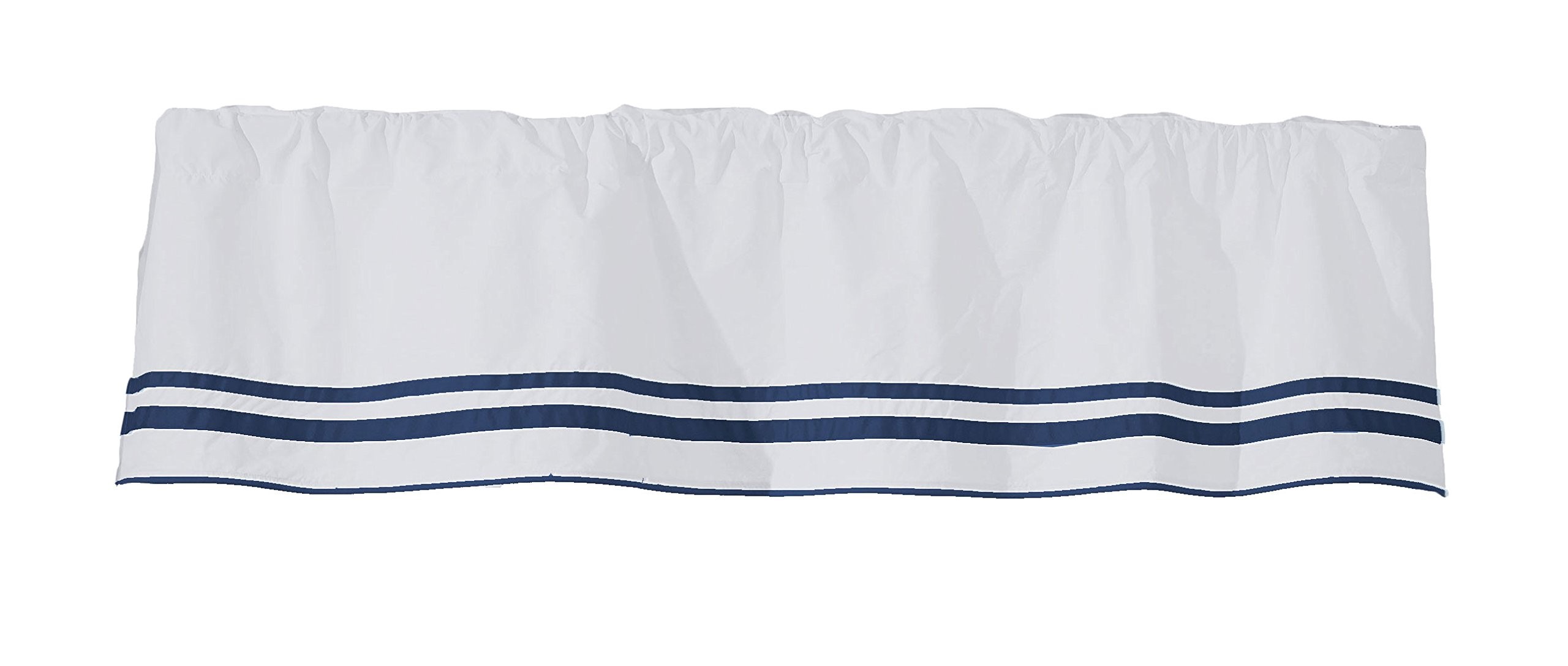 Baby Doll Bedding Soho Window Valance, Navy
