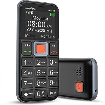 Easyfone Prime-A5 Teléfono Móvil para Personas Mayores con Teclas Grandes y botón SOS, Fácil de Usar Móviles para Ancianos con Base cargadora: Amazon.es: Electrónica