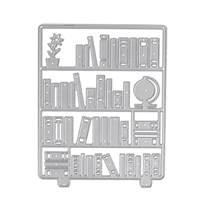 Whitelotous Metal Cutting Dies DIY Bookshelf Embossing Template Paper Card Cutter Stencils Gifts