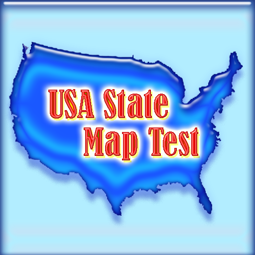 50 State Map Quiz (for Kindle, Tablet & Phone)