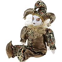 "Baosity 12"" Ceramic Triangel Doll Love Token Make Up in Costume for Christmas Golden"
