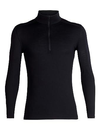 848173f1ff Icebreaker Men's 200 Oasis Half Zip Base Layer Long Sleeve Top - Black,  Small