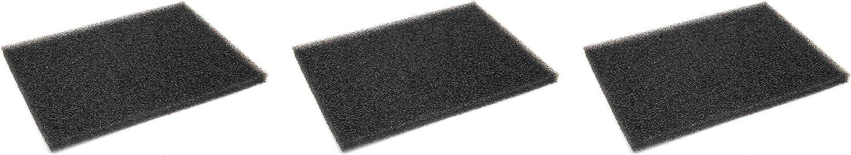 vhbw 3x Filtro de pelusa, filtro de espuma para varias secadoras de ropa de AEG, electrolux