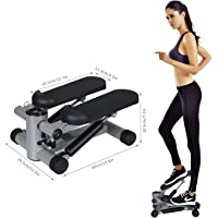 begorey 2 in 1 Mini-Stepper Professional Stepper Stepper Hydraulic Aerobic Exercises with Adjustable Resistance Band and LCD training computer