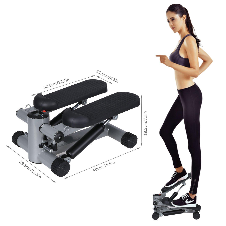 Begorey Drehstepper Stepper Twister mit Widertsand-Band und Werkzeugen Gesundheit Fitness-Übungs-Sport Stepper