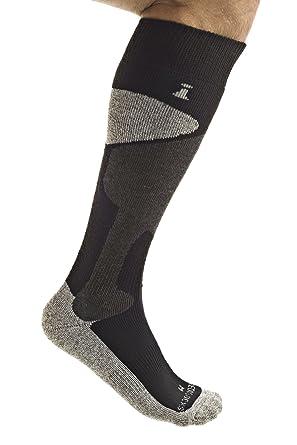Incrediwear - Calcetines hasta la rodilla - para hombre Negro negro Small