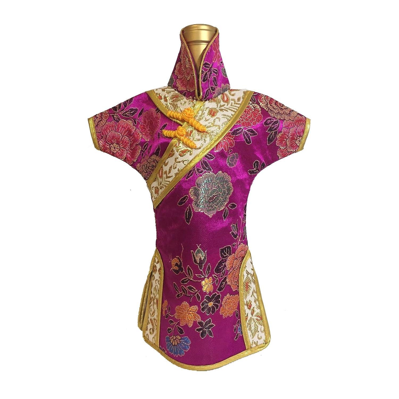 1728d6c53 Amazon.com | Yatao 2pcs Cheongsam Red Wine Storage Bag Bottle Shade Cloth  Oriental Chinese Dress Gold (Color Random): Bar Tools & Drinkware