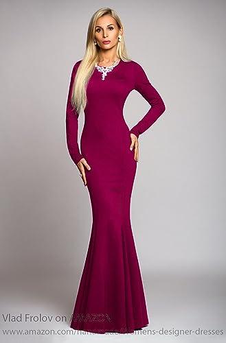 Amazon Long Fuchsia Dress In Mermaid Style Maxi Dress Evening