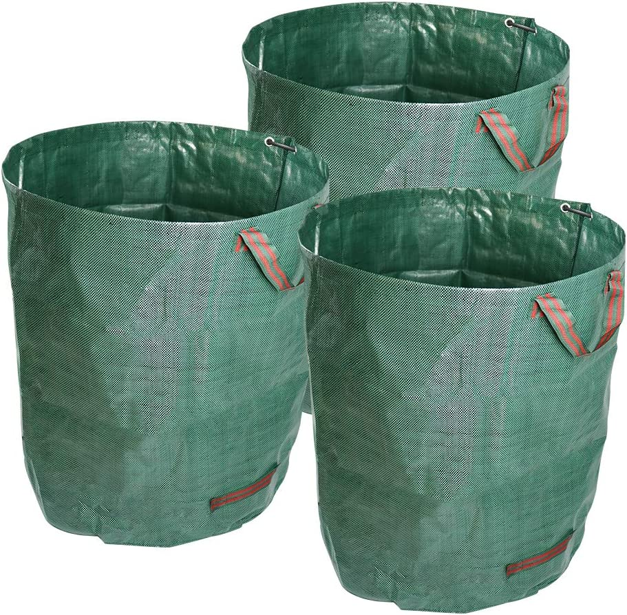 ValueHall 3 Packs Garden Bag Garden Waste Bags Reusable Leaf Bags Reusable Heavy Duty Gardening Bags Yard Waste Bags V7070 (72 Gallons)