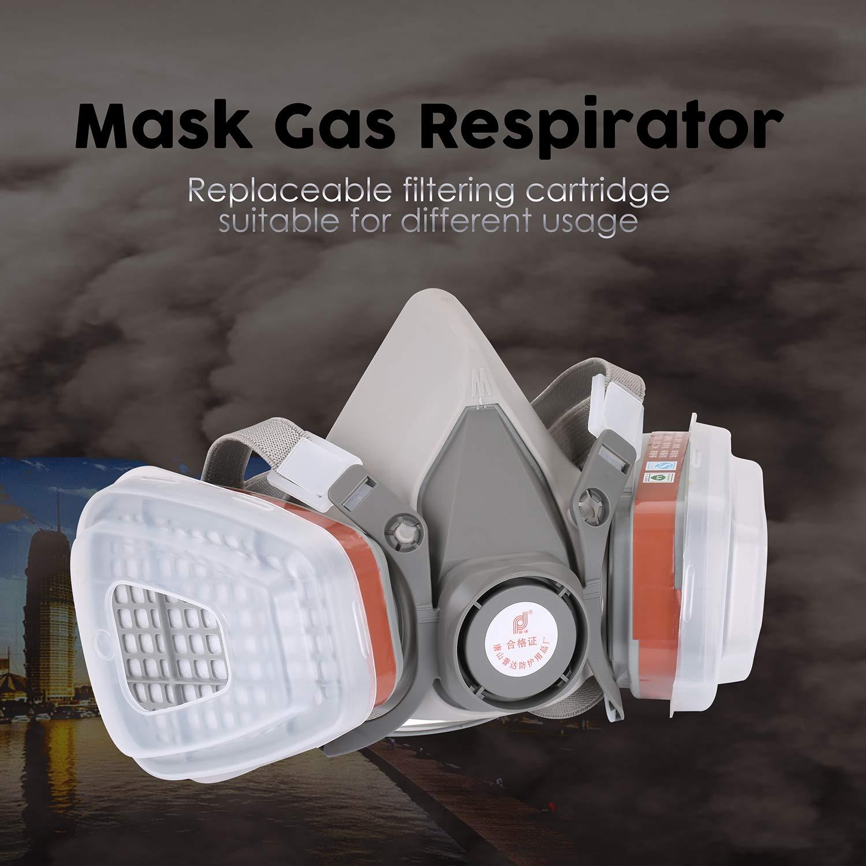 Filtro del respirador del Gas de la Media mascarilla para Pintar la má scara de la Seguridad del Trabajo de rociadura FairytaleMM