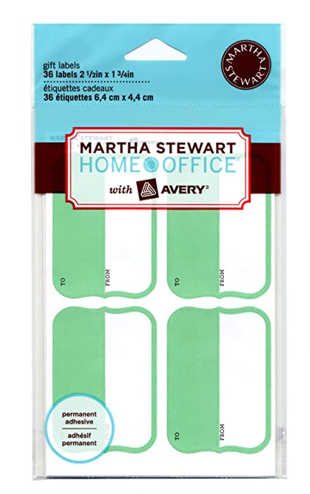 amazon com martha stewart home office with avery gift labels 2 1
