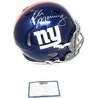 $209 » Eli Manning New York Giants Signed Autograph Full Size Speed Helmet Steiner Sports Certified