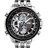 SunJas Herrenuhr Uhr Armbanduhr Quarzuhren Watch Sportuhr Edelstahl Wasserdicht Uhr