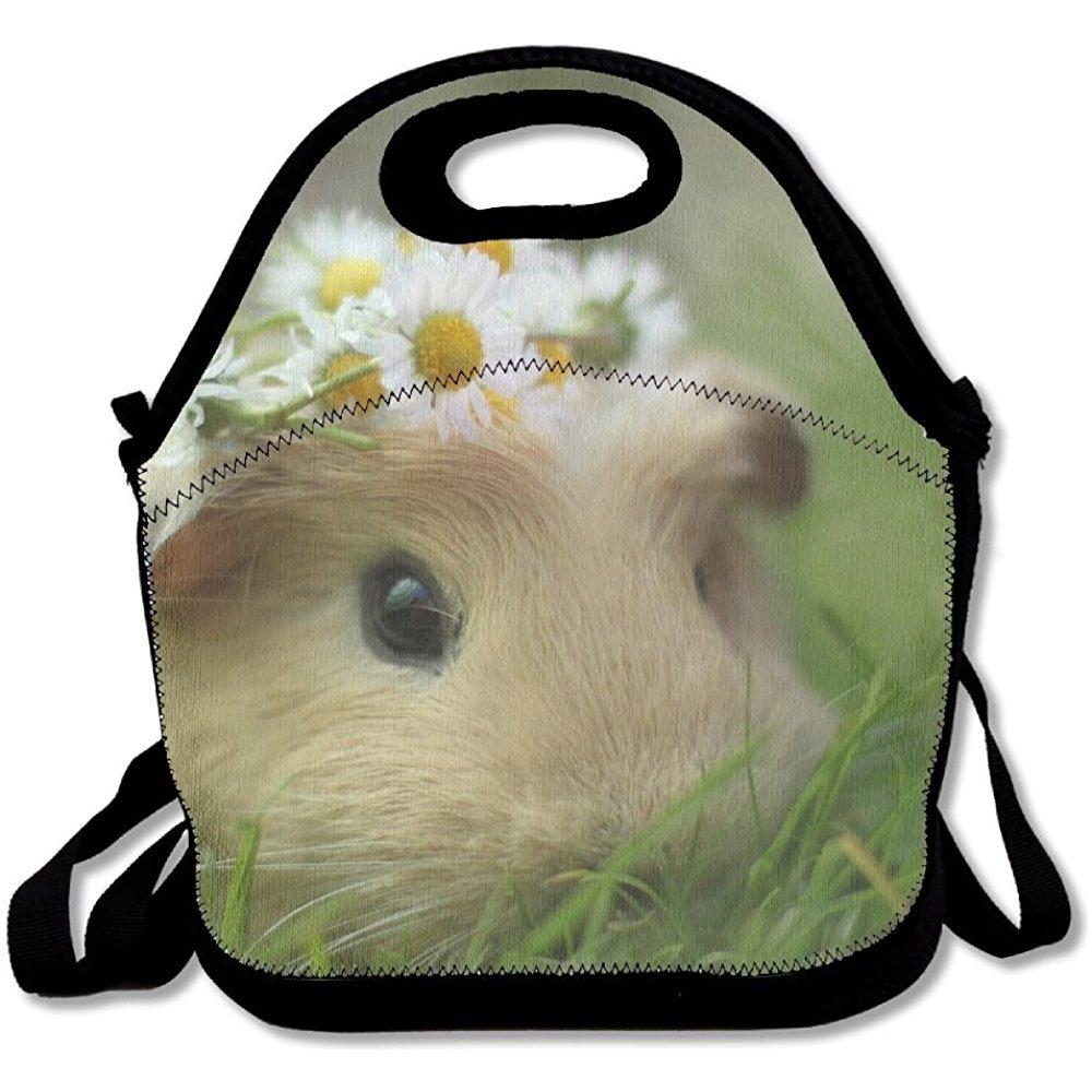 starmiami Cute Guinea Pig再利用可能なトートバッグランチバッグトートバッグハンドバッグランチボックス大人、子供、女の子、レディース   B07D3CVV8B