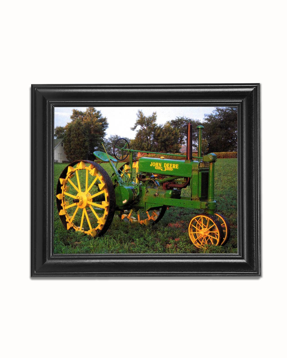 Amazoncom Old Metal Wheels John Deere Black Framed 8x10 Art Print